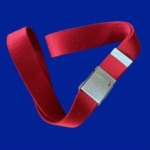 Nike Golf- Single Web Red Silver Belt Bottle